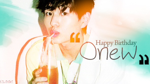Onew Birthday Banner
